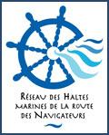 Logo du  réseau des Haltes marines de la route des Navigateurs