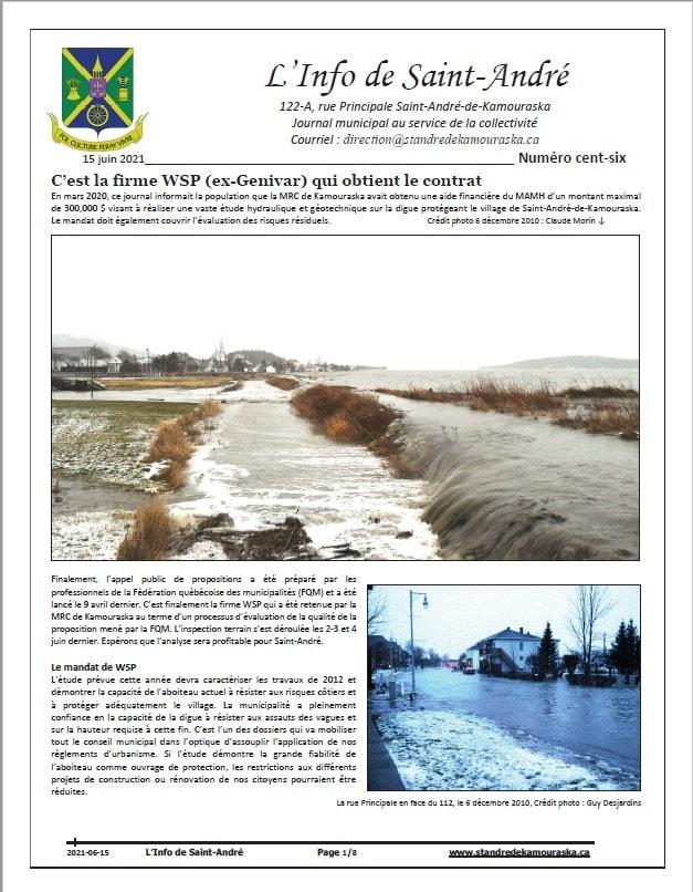 Journal L'Info de Saint-André juin 2021